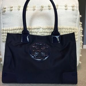 Tory Burch Navy Ella Mini Tote
